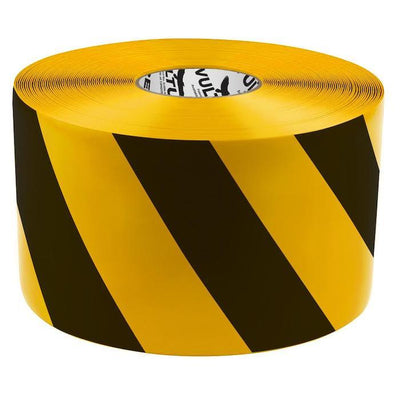 black and yellow striped tape