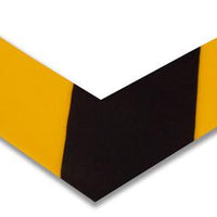 "Floor Marking Tape, Solid, L, Angles, 2"" Width, 45VR82, 100 PK"