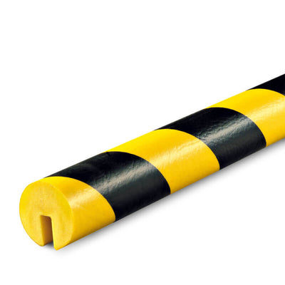 Foam Guard, Type B, I-beam slide-on, non-adhesive, black/yellow, 39.4