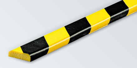 "Flat Foam Guard, Type F, self-adhesive, black/yellow, 39.4"" X 1.7"", 82-5397"