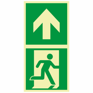 Evacuation Route Marking Sign, Photoluminescent, Self-adhesive, 83-40129