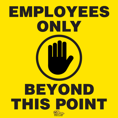 Employees Only Floor Sign - Social Distancing Floor Sign
