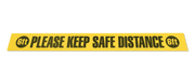 "Please Keep Safe Distance Strips - 4"" X 36 - Packs of 10"
