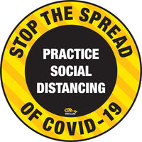 Stop the Spread Floor Sign - COVID-19 Floor Marking - Heavy Duty
