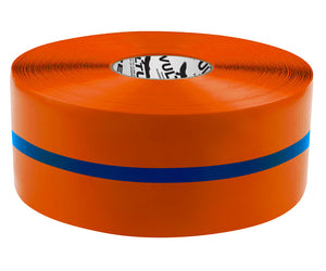 "Floor Marking Tape, Solid with Center Line, Continuous Roll, 4"" Roll, 1 EA, 45VR14"