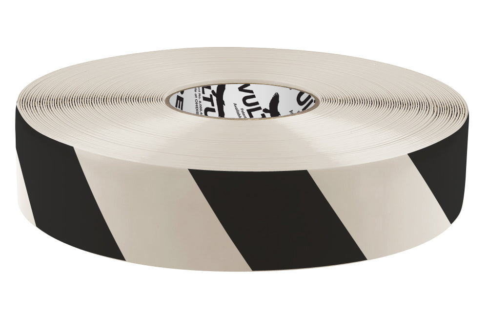 "Floor Marking Tape, Striped Hazard, Continuous Roll, 2"" Roll, 1 EA, 45VT03"