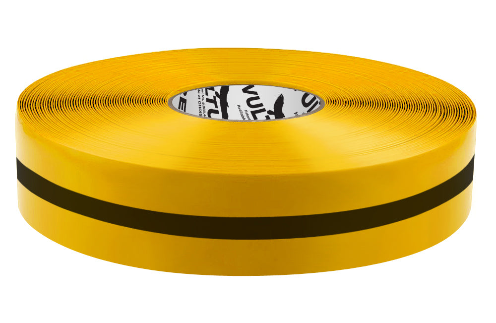 "Floor Marking Tape, Solid with Center Line, Continuous Roll, 2"" Roll, 1 EA, 45VR18"