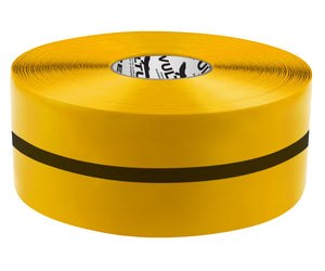 "Floor Marking Tape, Solid with Center Line, Continuous Roll, 4"" Roll, 1 EA, 45VR72"
