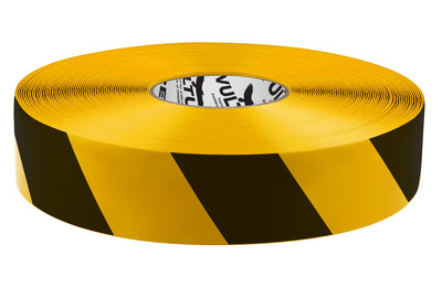 Floor Marking Tape, Striped Hazard, Continuous Roll, 2