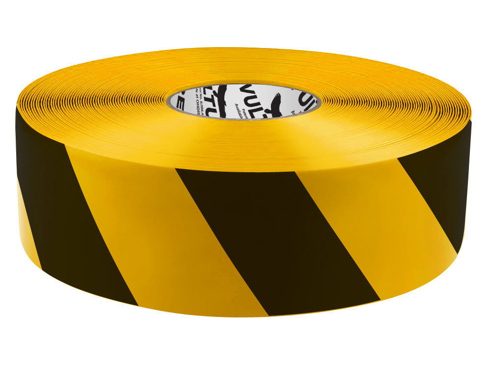 "Floor Marking Tape, Striped Hazard, Continuous Roll, 3"" Roll, 1 EA, 45VR97"