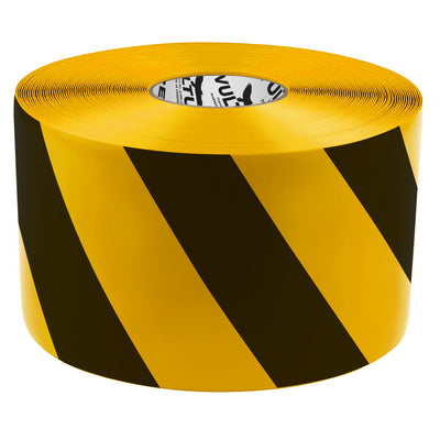 Floor Marking Tape, Striped Hazard, Continuous Roll, 6