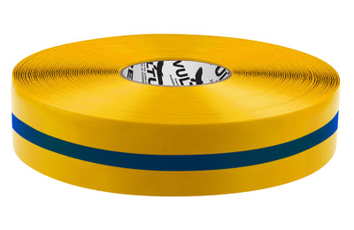 Floor Marking Tape, Solid with Center Line, Continuous Roll, 2