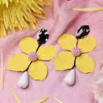 Bloom Yellow Fashion Statement Earrings