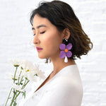 Bloom Lilac Fashion Statement Earrings