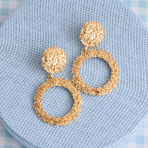 Mia Gold Statement Fashion Earrings