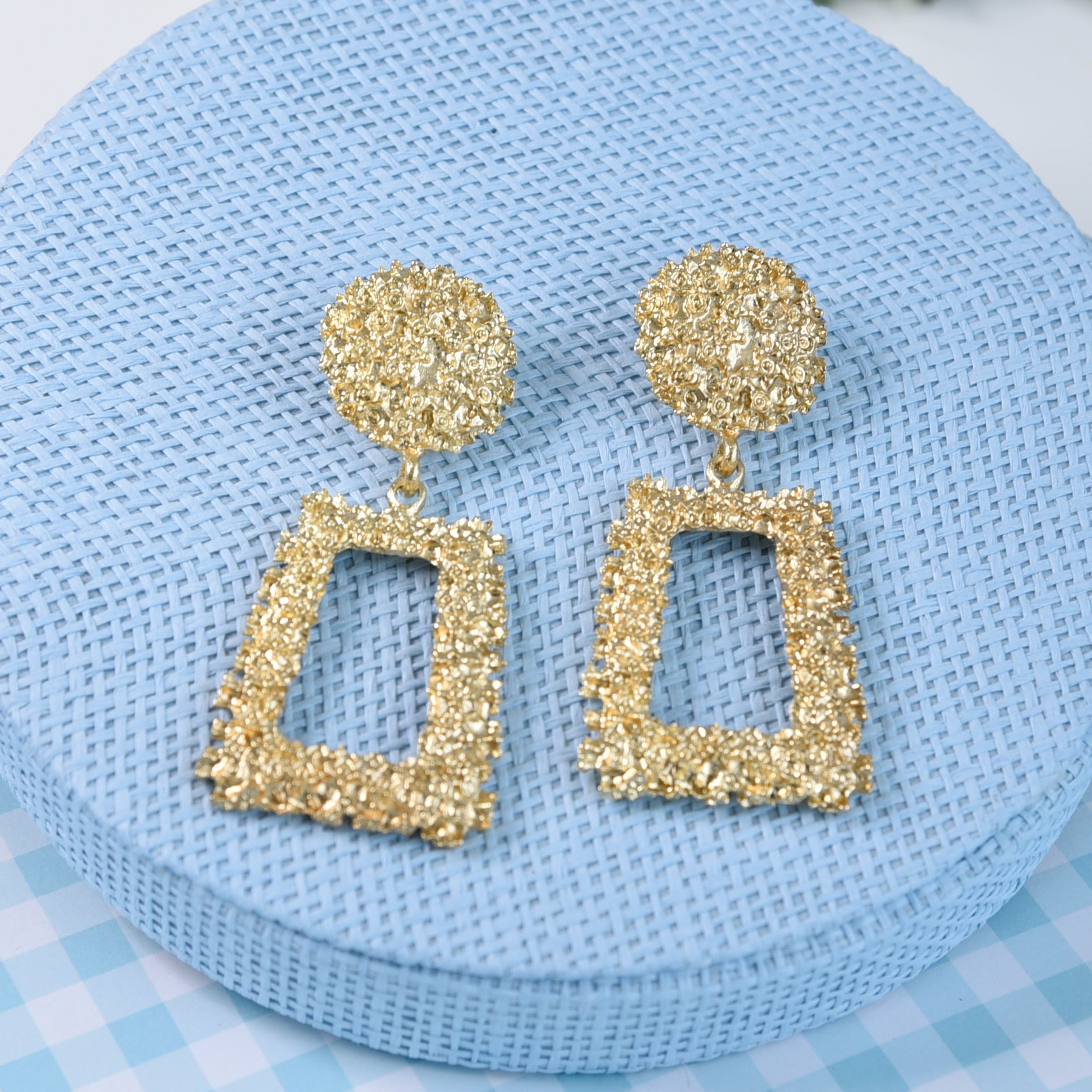 Roxy Gold Statement Fashion Earrings
