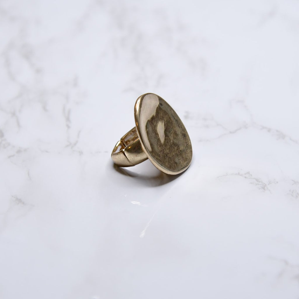 Fashion Ring Gold Toned