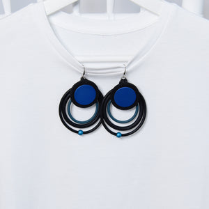 Streetstyle Blue Lightweight Fashion Statement Earrings