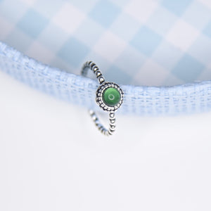 Margery Green Sterling Silver Ring