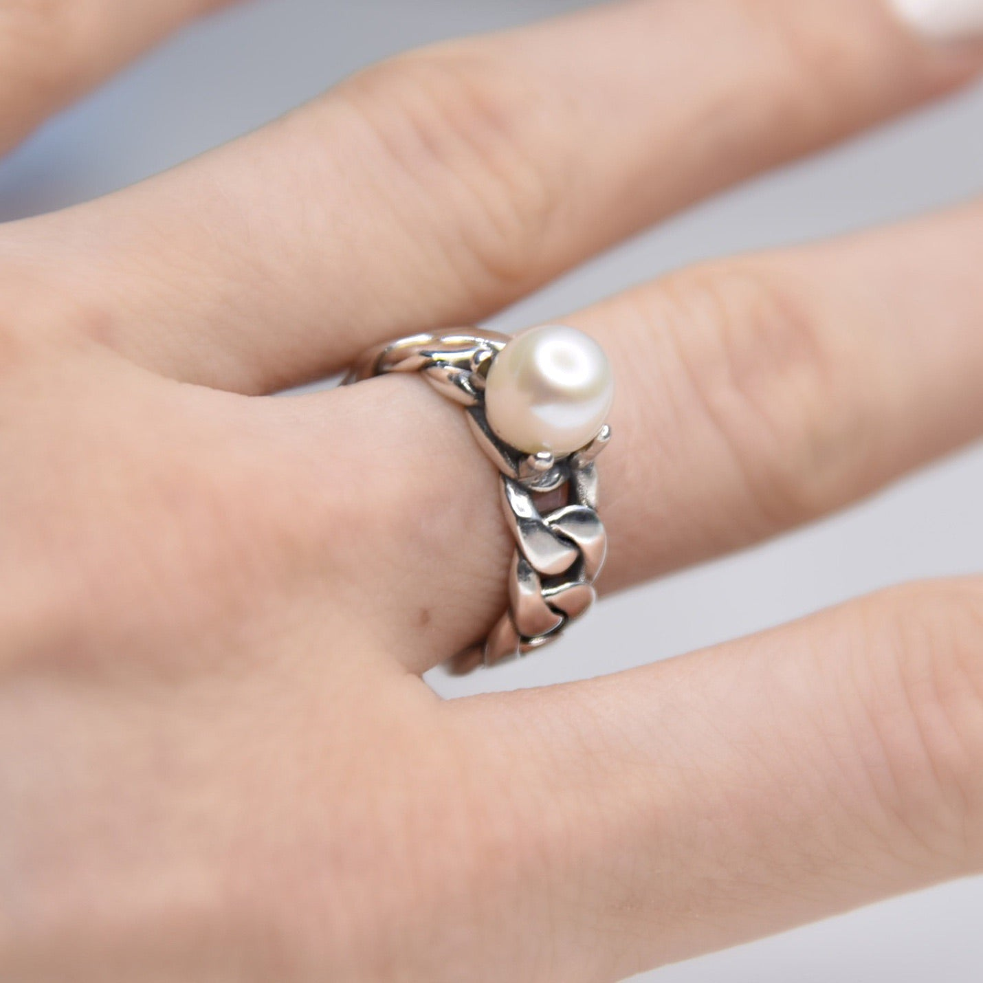 Magge Pearl Sterling Silver Ring