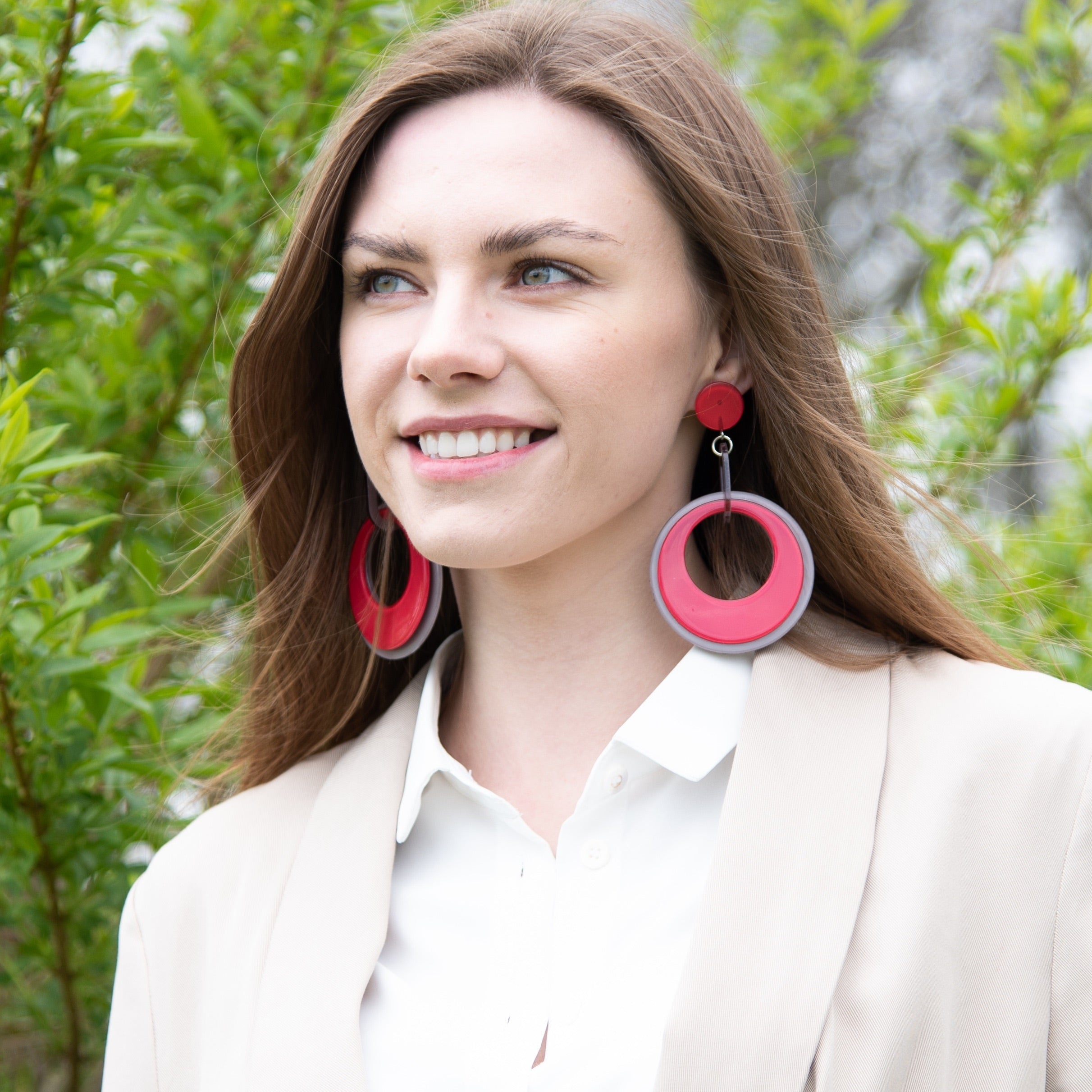 Cherries Red Fashion Statement Earrings