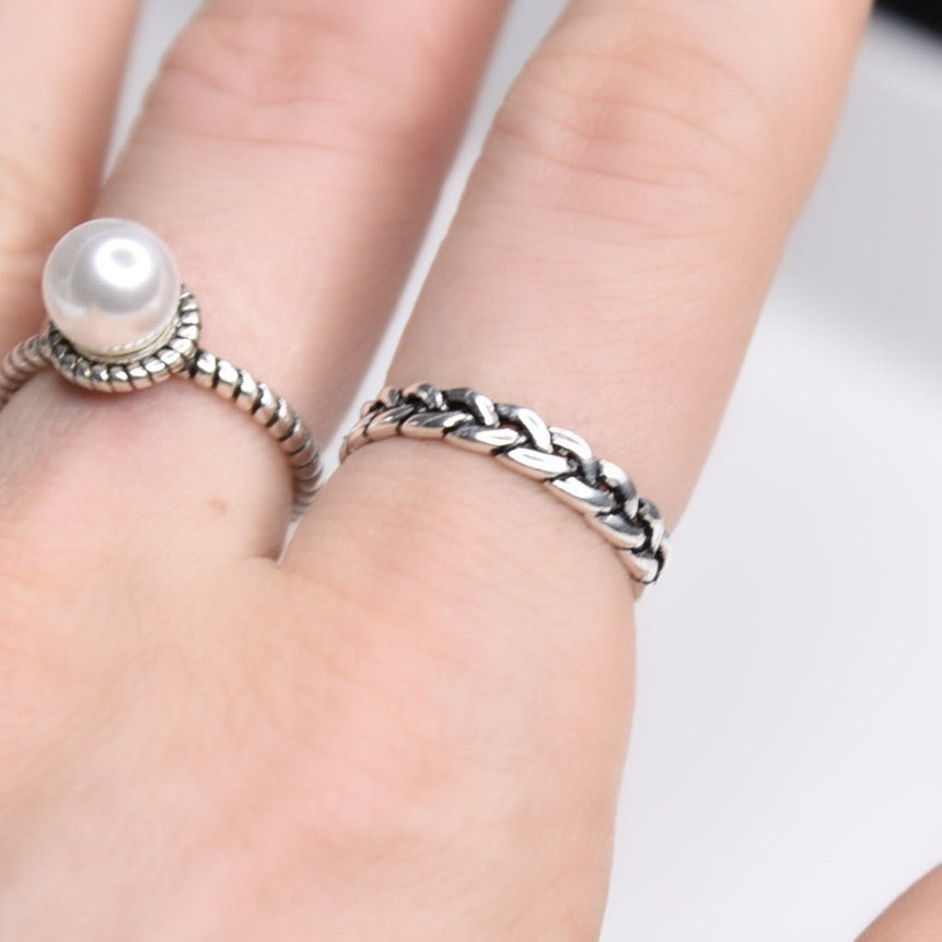 Agnes II Sterling Silver Ring