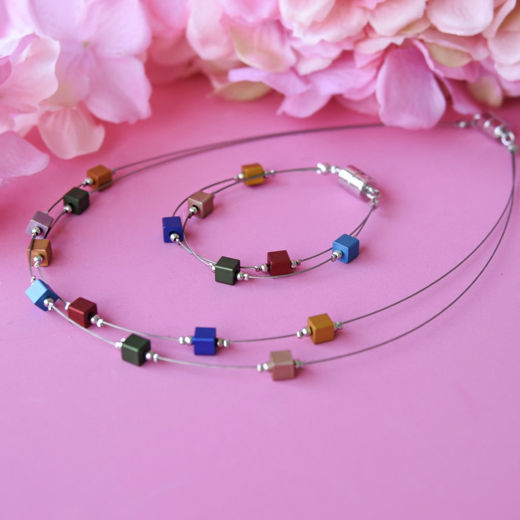 PREORDER Colorful Necklace and Bracelet Set