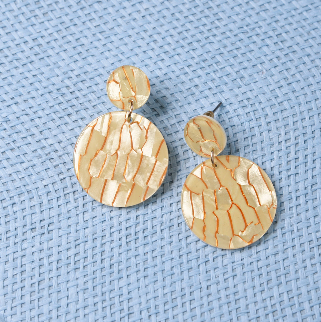 Ella Yellow Lightweight Fashion Earrings