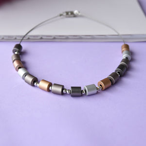 Nude Cylinders Lightweight Fashion Necklace