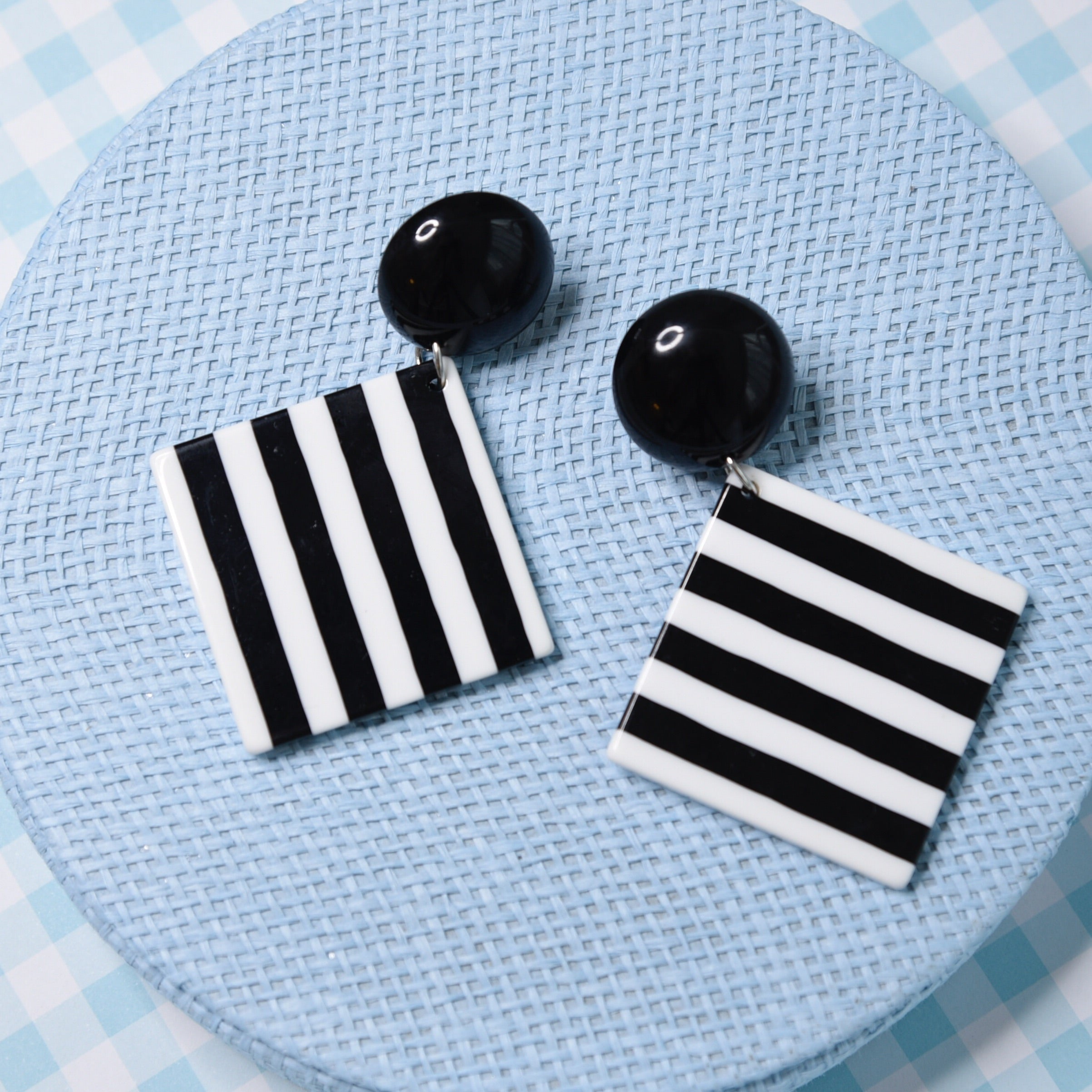 Breezy Square Lightweight Fashion Statement Earrings