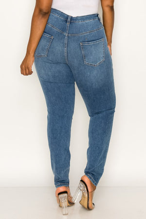 "JEANS  SKINNY ""TISHA"" TAILLE HAUTE BLEU CLAIR"