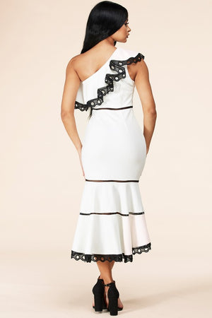 "ROBE BLANCHE ""CLEMENCE"""
