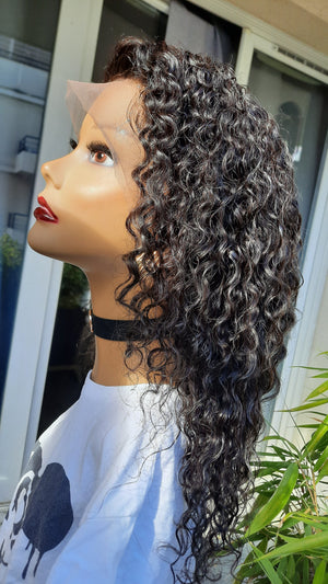 "PERRUQUE ""KELLY"" CHEVEUX INDIENS LACE FRONTALE GRADE 10A"