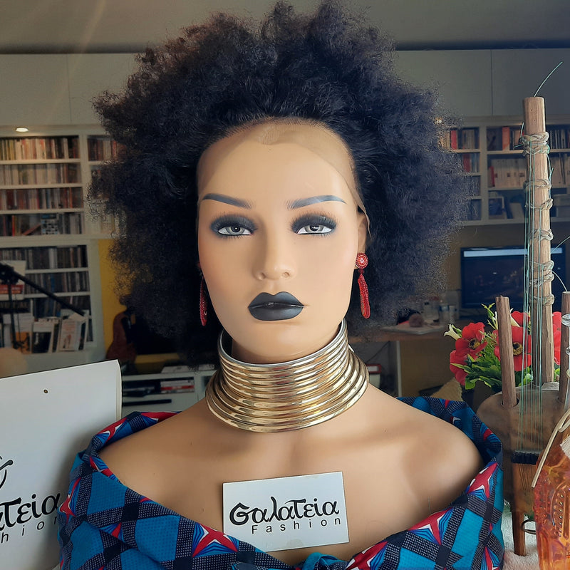 "PERRUQUE ""ASSA"" AFRO KINKY CURLY BRÉSILIENNE  LACE FRONTALE"