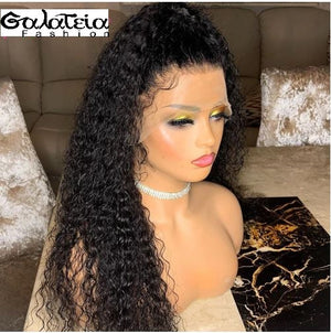 "PERRUQUE BRÉSILIENNE""ALIENOR"" KINKY CURLY 360 LACE FRONTAL  PRE-PLUMÉE 150% DENSITE"
