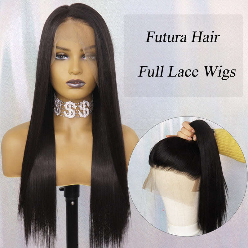 PERRUQUE  SYNTHÉTIQUE FIBRE FUTURA LISSE FULL LACE WIG STYLE NATURELLE