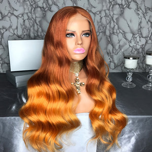 PERRUQUE BRÉSILIENNE 2 TONS  FULL LACE BODY WEAVE HUMAN HAIR