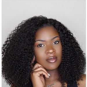 PERRUQUE BRÉSILIENNE VIERGE KINKY CURLY  LACE FRONTALE AVEC BABY HAIR