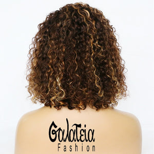 "PERRUQUE ""ALISSA"" HIGHLIGHT HAIR  CURLY  LACE FRONTALE 13*6"