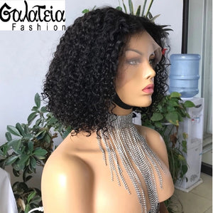 "PERRUQUE ""AVA""FRONTALE BRÉSILIENNE  COURTE WATER WEAVE CURLY"