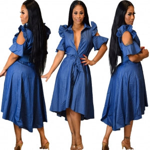 ROBE DENIM CALIA