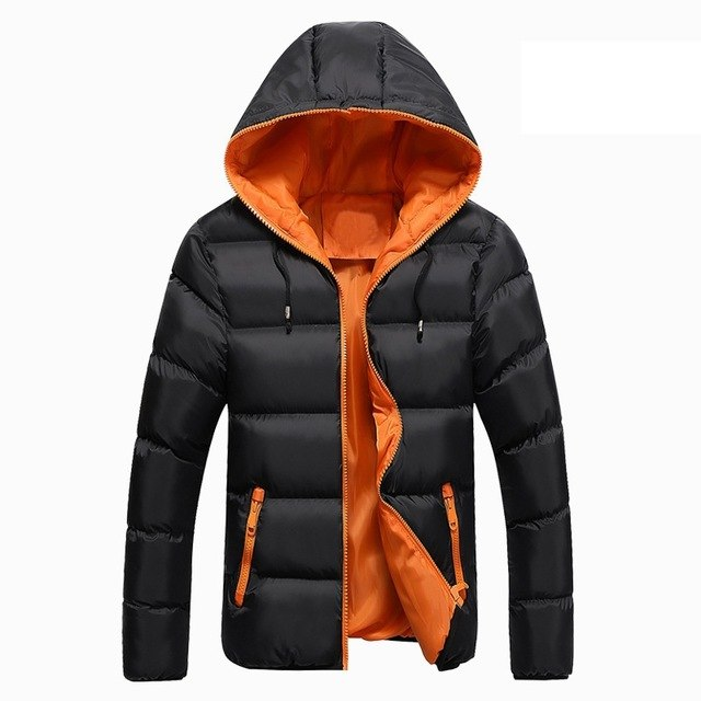 2017 New Mens Winter Jacket Men's Hooded Wadded Coats Outerwear Male Slim Casual Cotton Outdoors Outwear Down Jackets Hot Sale-cgabuy