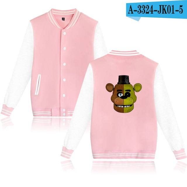 Fnaf jacket Five Nights At Freddys Jacket Autumn Long Sleeves Cartoon Bear FNAF Hoodie Men's Sweatshirts Fnaf-cgabuy