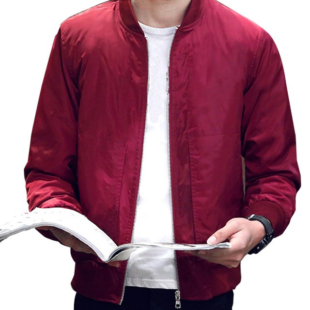 MCCKLE Men 2017 Spring Autumn Slim Fit Baseball Jacket Men's Solid Color plus size Bomber jackets Fashion Casual M-4XL coat Male-cgabuy