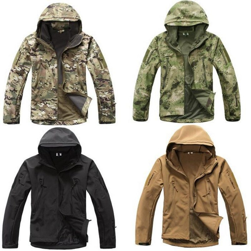 16 High quality Lurker Shark skin Soft Shell TAD V 5.0 Military Tactical Jacket Waterproof Windproof Army bomber jacket Clothing-cgabuy