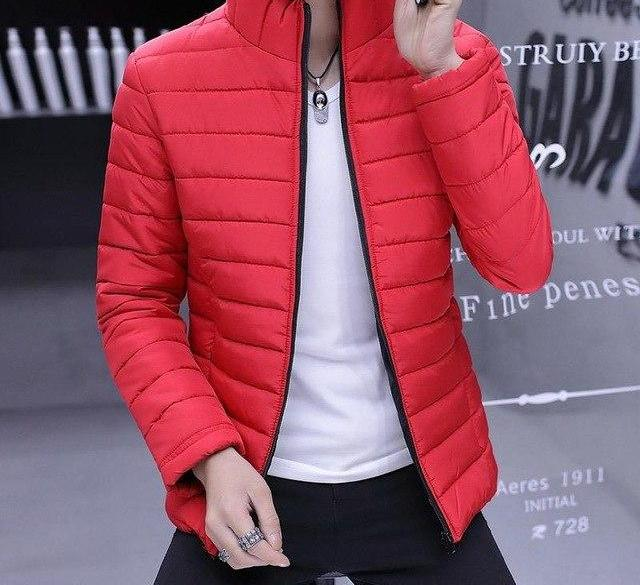 Winter Jacket Men 2018 Cotton Padded Warm thicken Short jacket coat Clothing Stand Collar Male zipper Parkas coat 3XL-cgabuy
