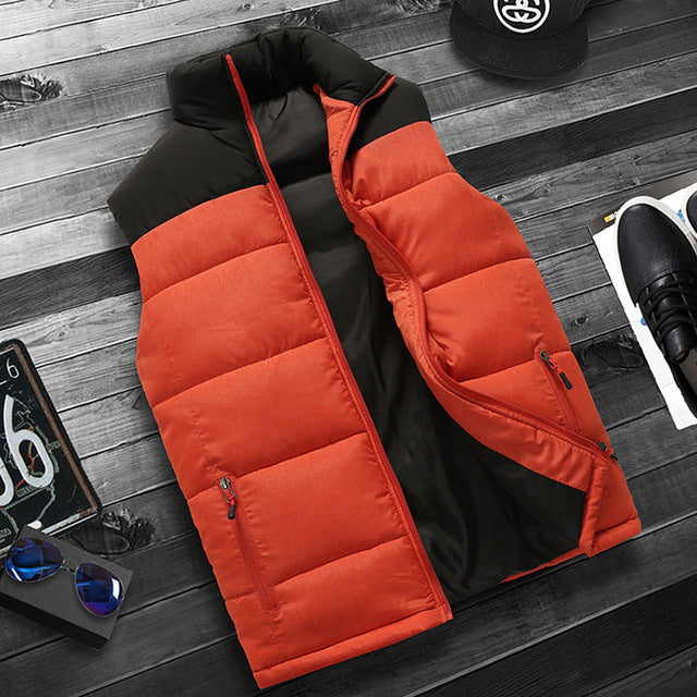FALIZA New mens winter sleeveless jacket and coats men's sleeveless Warm down vest homme winter casual coats 4XL MJ-M-cgabuy