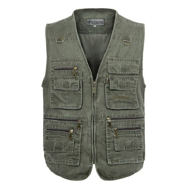 Oversize 5XL Multifunction Men Vest With Many Pockets Quick Dry Sleeveless Waistcoat Travel Clothes Photography Vest-cgabuy
