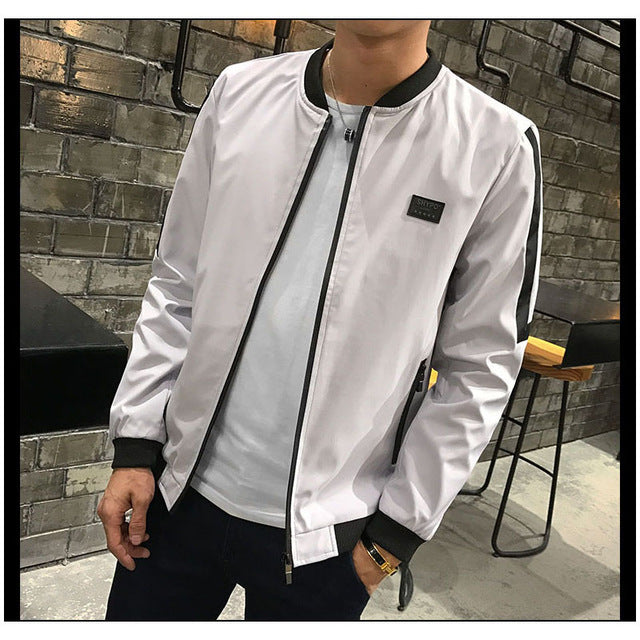 Bomber Jacket Men 2018 Autumn Mens Pilot Jacket Sportswear Bomber Jacket Fashion Casual Mens jackets Coats Outwear Windbreaker-cgabuy