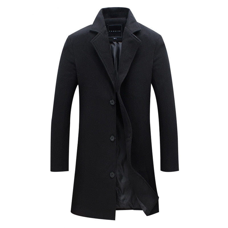 New Men Wool Blends Suit Design Wool Coat Men Casual Trench Coat Design Slim Fit Office Suit Jackets Coat Drop Shipping-cgabuy